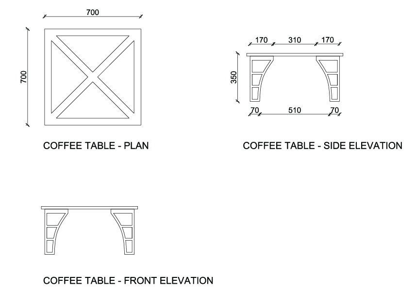 Furniture Technical Drawings Picture